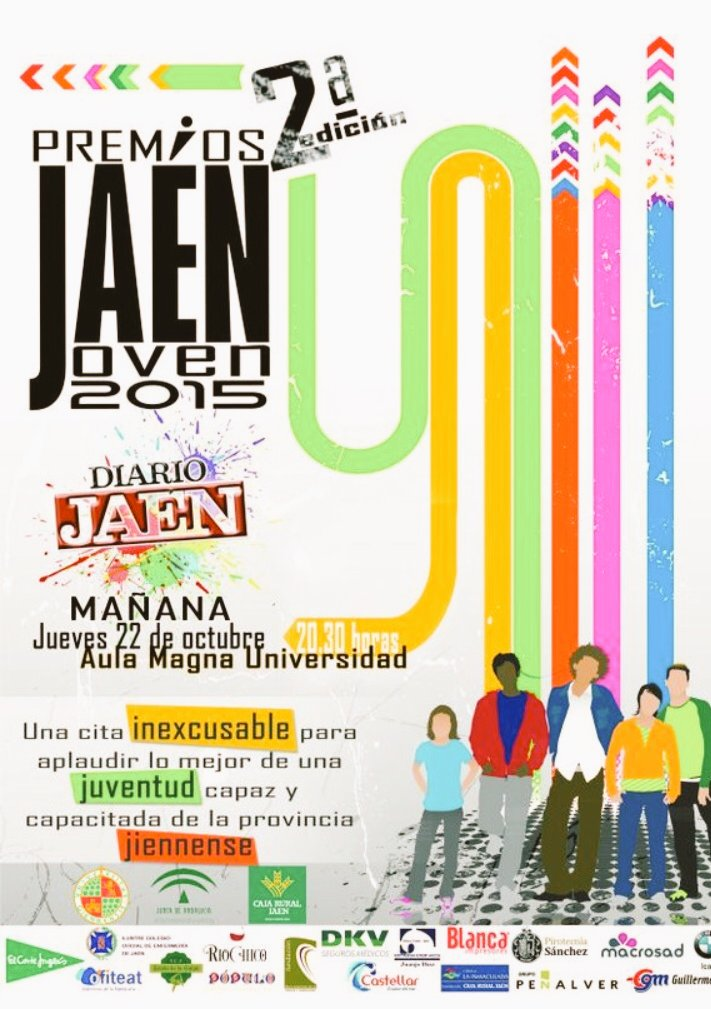 cartel premios Jaén Joven
